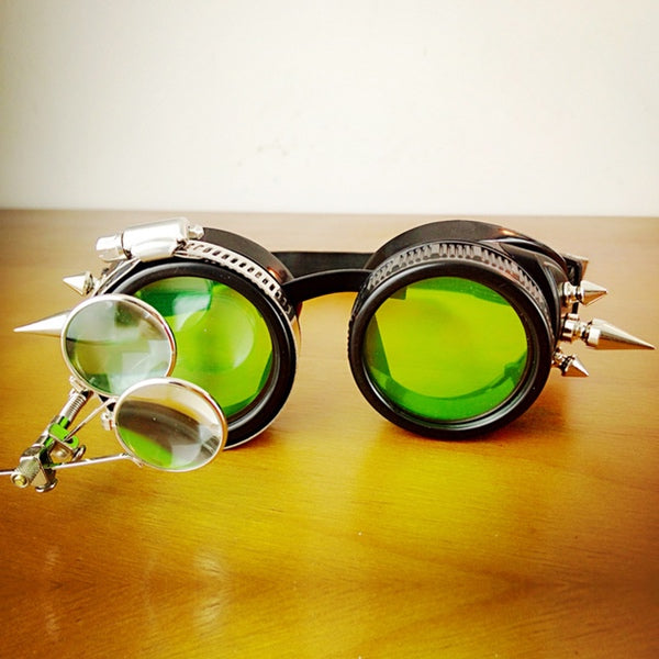 Steampunk MigPower Green Goggles