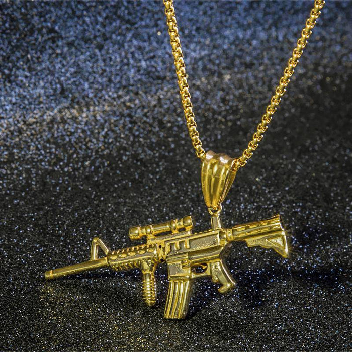 PUBG 98k Sniper Rifle Gun Pendant Necklaces