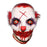Halloween Bloody Red-Hair Clown Latex Mask