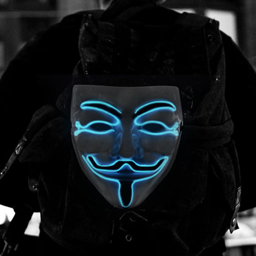 V For Vendetta - LED Light Guy Fawkes Mask