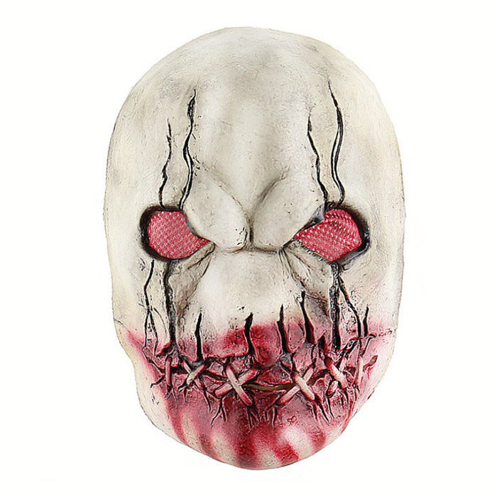 Horror Sutural Mouth Zombie Latex Mask
