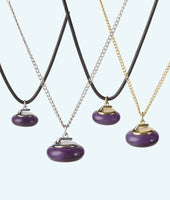 Amethyst Stone Curling Rock Necklace - In 3D