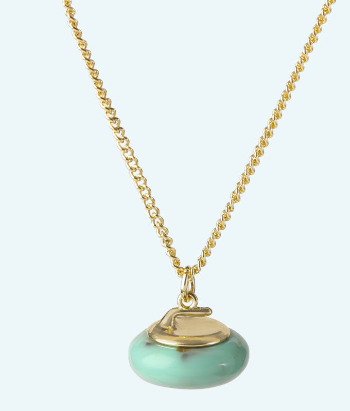 Jade Stone Curling Rock Necklace - In 3D