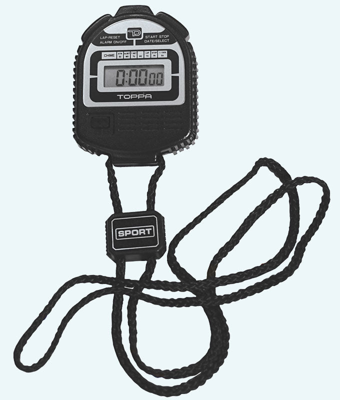 Toppa Pro Sports Stopwatch with Strap in Black
