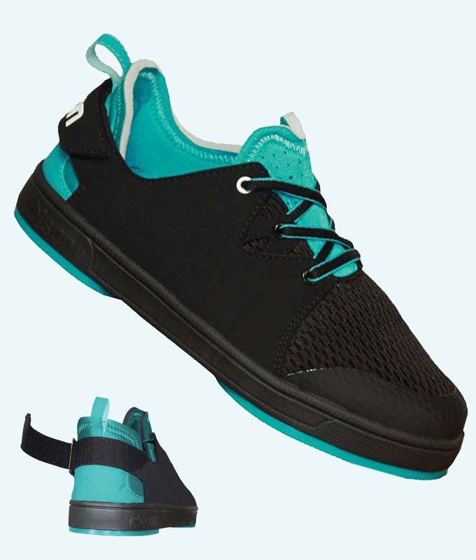 "Women's NeoSport Black/Aqua with 1/8"" Flex Perimeter Slider (RH)"