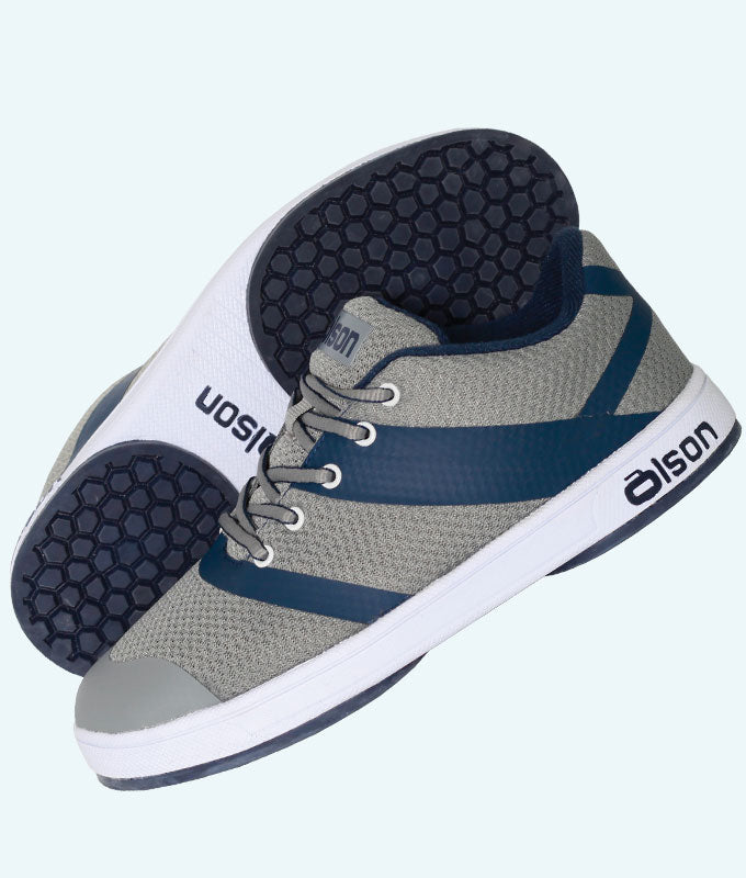 "Women's CrossKicks Grey/Navy 1/4"" Flex Perimeter (RH)"