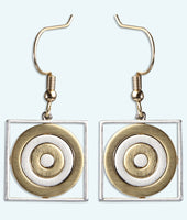 Curling House Earrings with Border