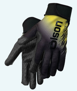Friction Unisex Curling Gloves Black/Yellow