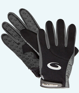 Men's Black with Charcoal Precision Curling Gloves