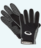 Women's Black with Charcoal Precision Curling Gloves