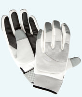 Men's White & Grey Thermocurl Curling Gloves
