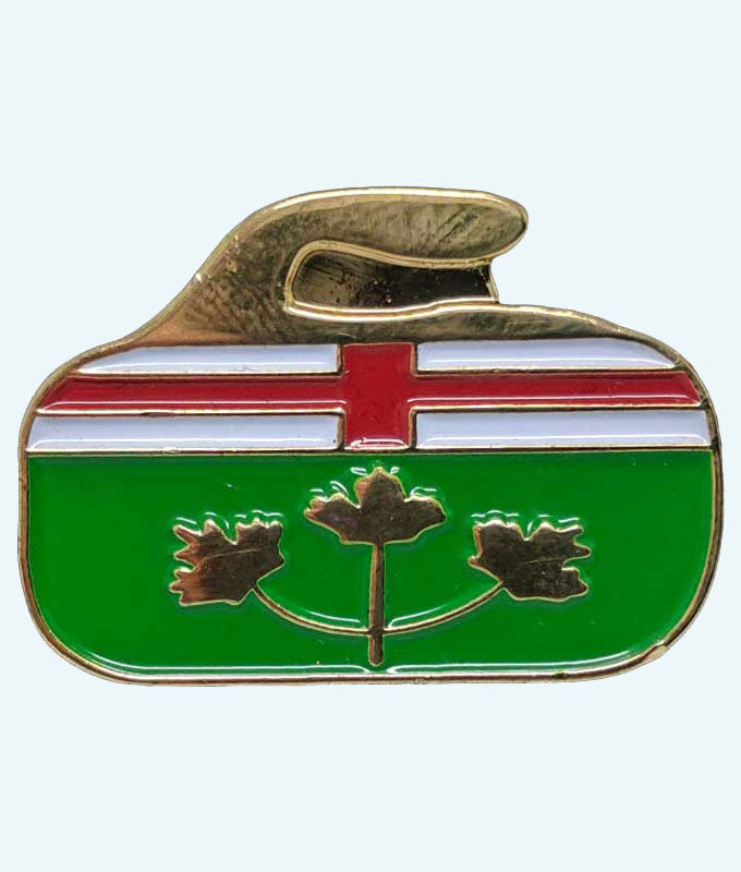 Canadian Provincial and Territorial Curling Rock Flag Pins