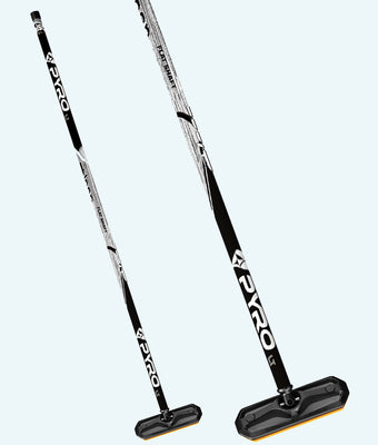 PYRO Flat Shaft Fiberlite Black/Pattern Grey Broom