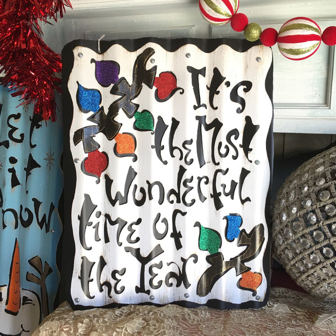 Most Wonderful Time of the Year - Metal Sign
