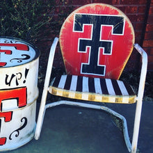 Texas Tech Hand Painted Metal Chair
