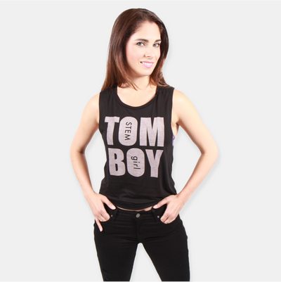 TOM BOY, STEM girl tee