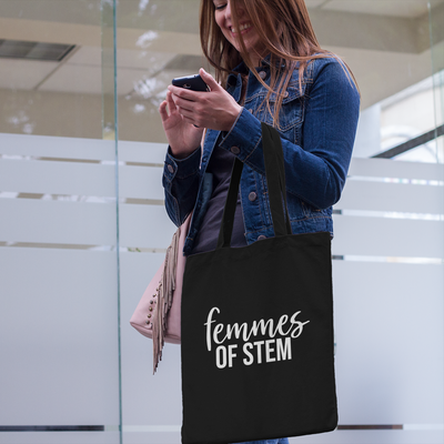 Femmes of STEM tote bag