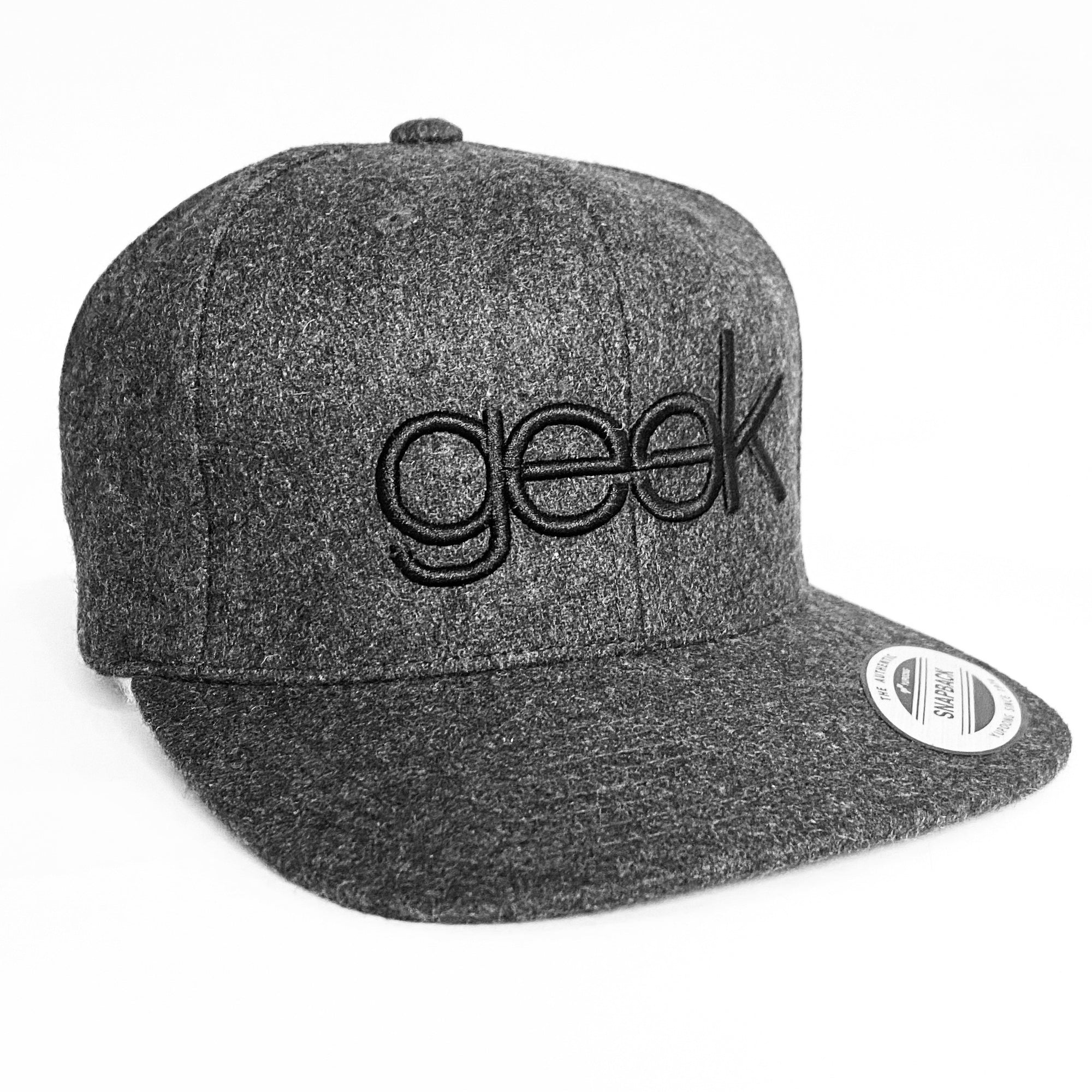 Geek Snapback (Dark Grey)