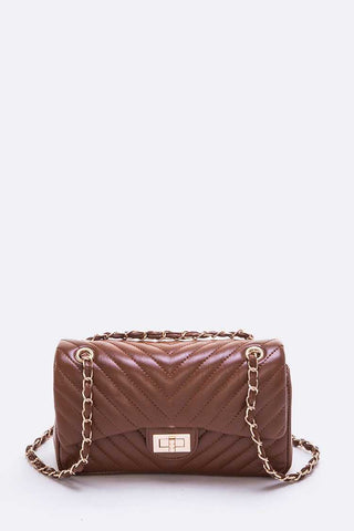 Quilted Convertible Shoulder Bag