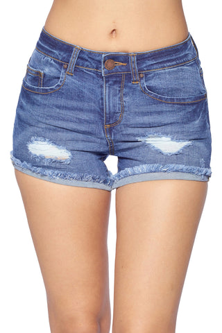 Denim Fray Hem Short