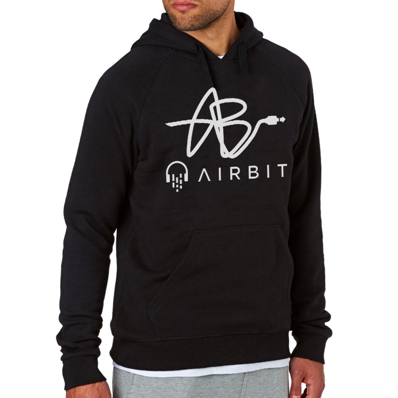 Cable Airbit Logo-  Hooded Sweatshirt