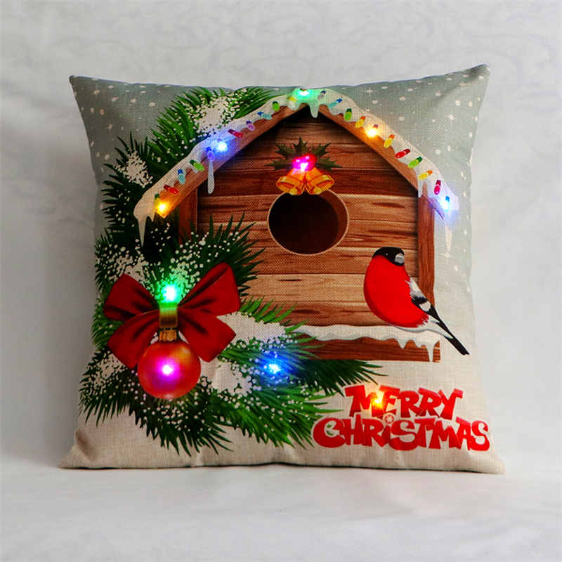 LED Christmas Pillow Case
