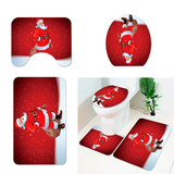 Christmas Bathroom Toilet Mat