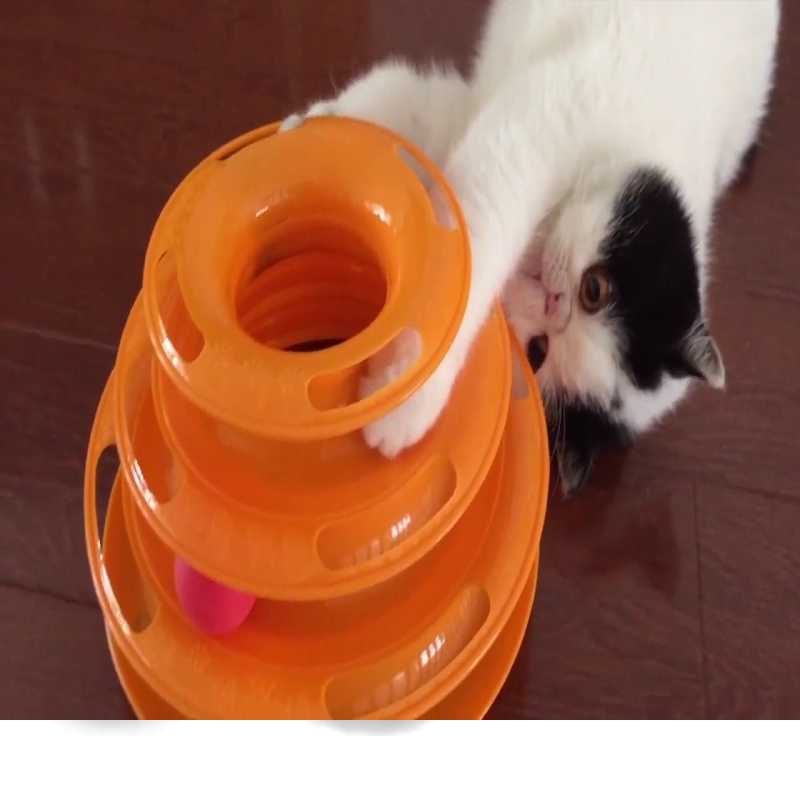 Triple Disk Cat Toy Tower