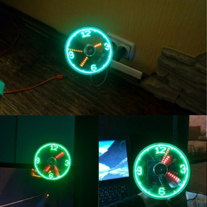 Led Light USB Fan Clock