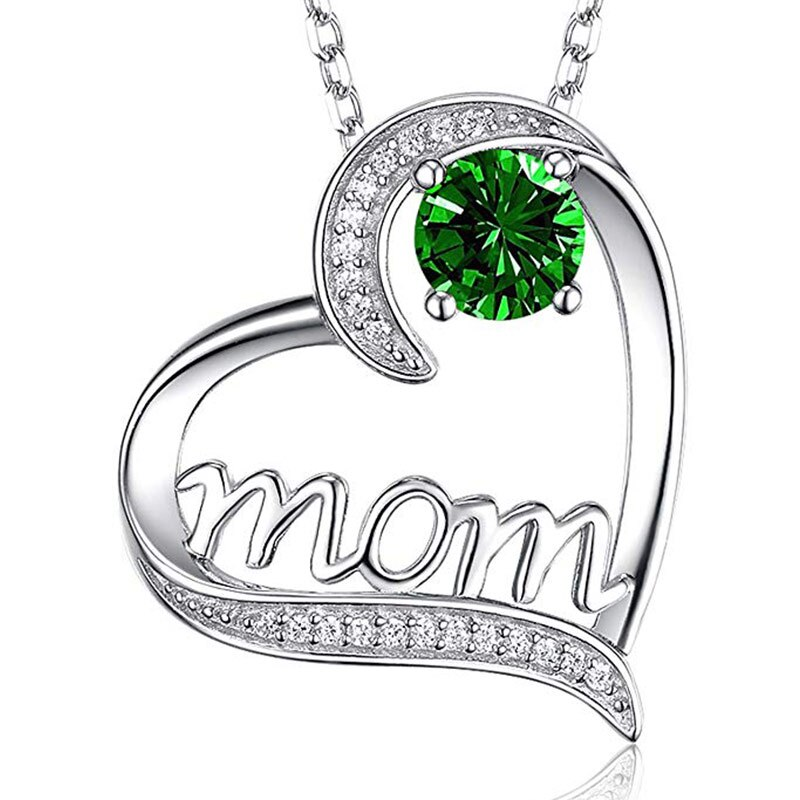 Mom's Crystal Heart Necklace