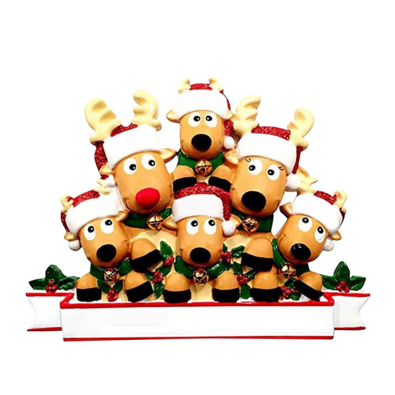 Christmas Reindeer Family Ornament