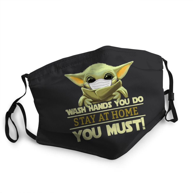 Baby Yoda Stay Home Fabric Mask