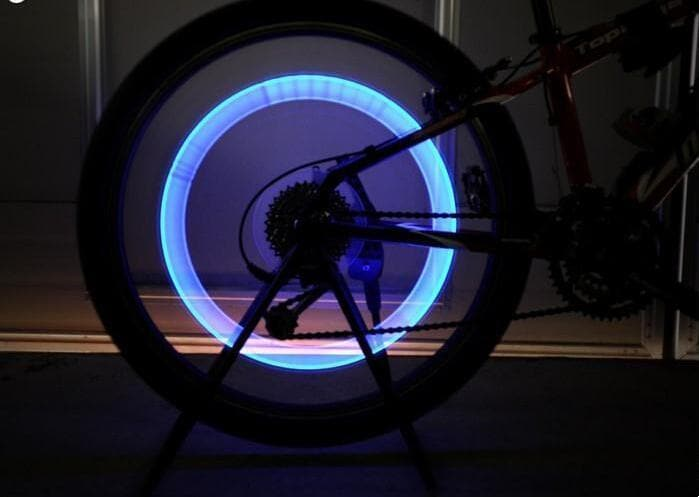 Bicycle Lights LEDS Tire Valve Caps