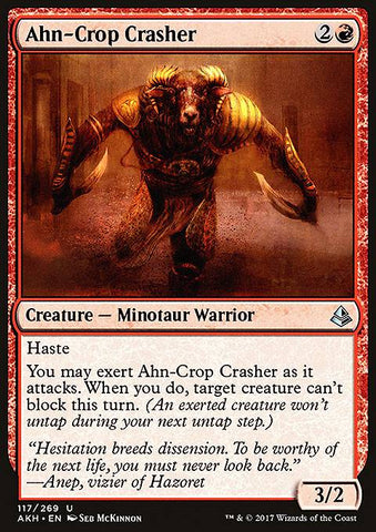 Ahn-Crop Crasher-Arcane Cards