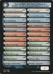 Shadows over Innistrad Checklist Card (Commons/Uncommons)