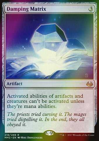 Damping Matrix (Foil)