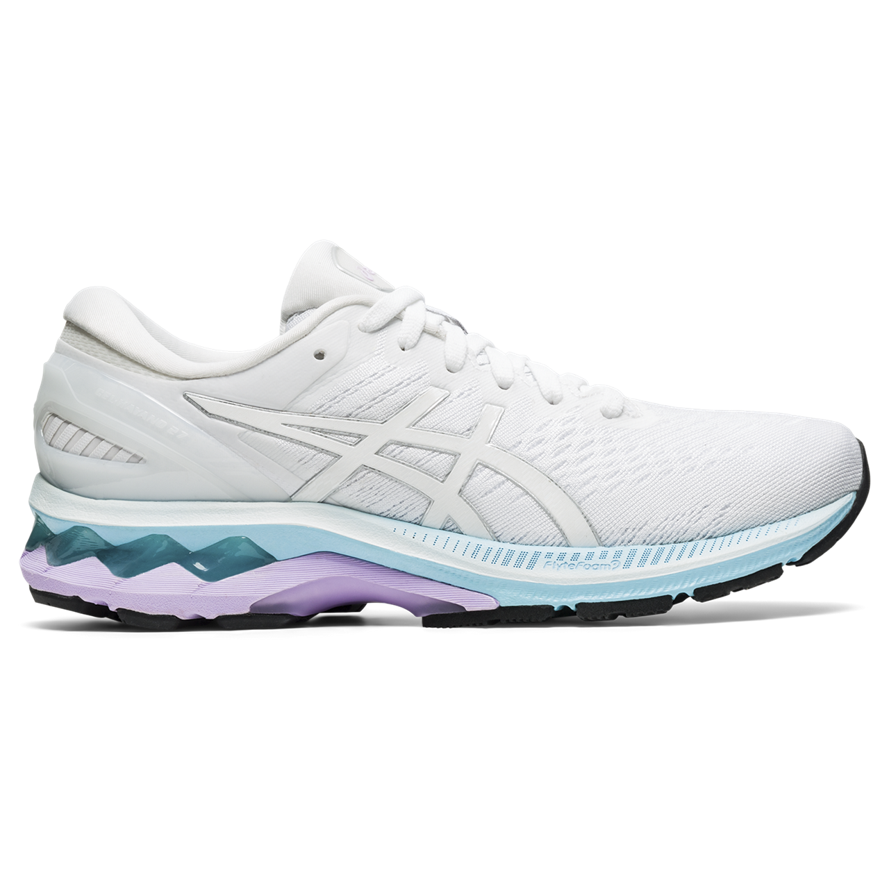 Women's Gel-Kayano 27 (100 - white/pure silver)