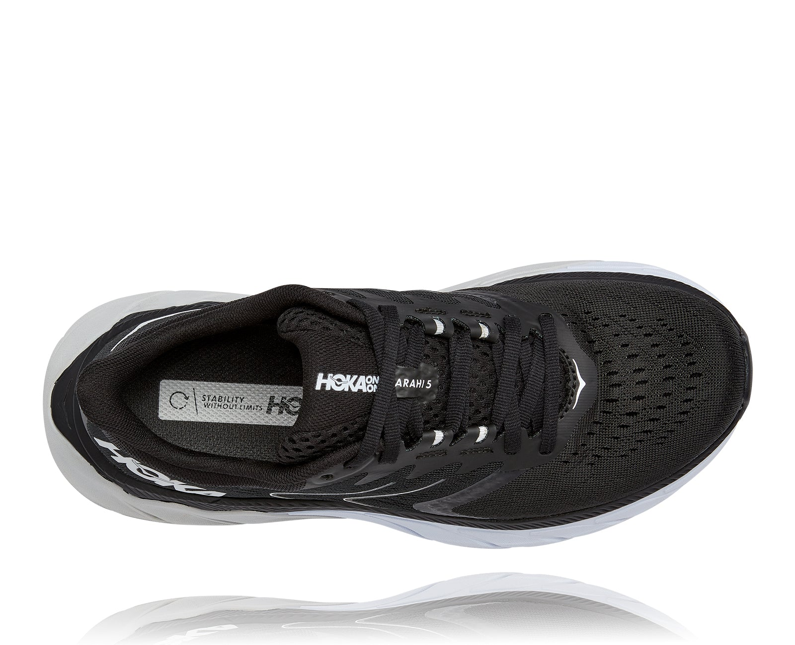 Women's Arahi 5 (BWHT - Black/White)