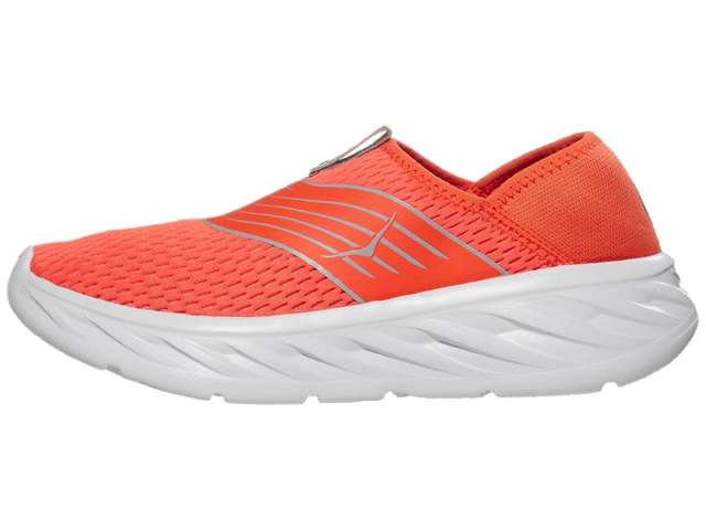 Men's Ora Recovery Shoe (MRLR - mandarin red/white)