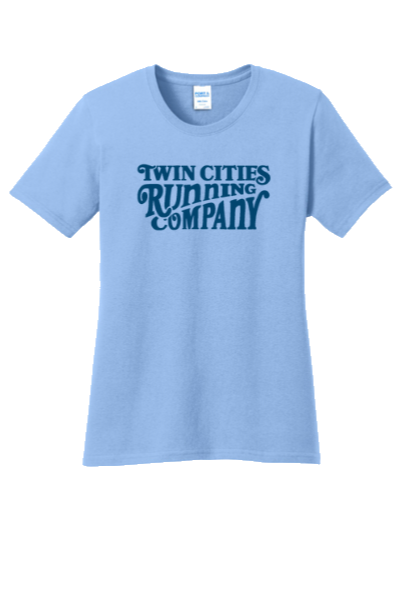 Women's TCRC Woodcut Cotton Tee (sky blue)
