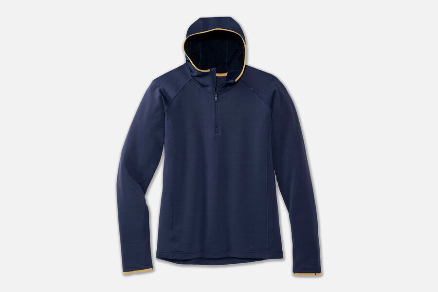 Men's Notch Thermal Hoodie (495 - Navy/Desert)