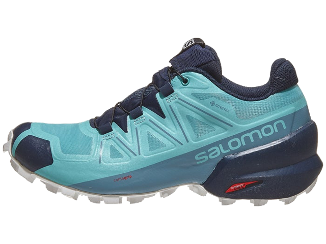 salomon women's speedcross 5 gtx trail running shoes blue