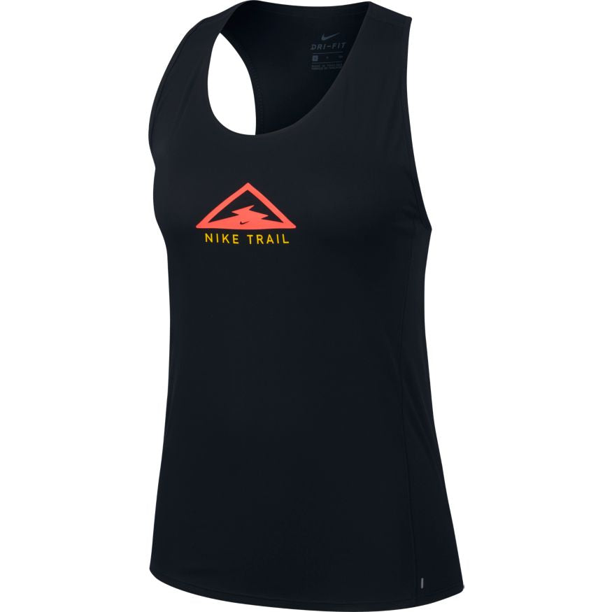 Women's City Sleek Tank (010 - Black/Laser Crimson/Speed Yellow)