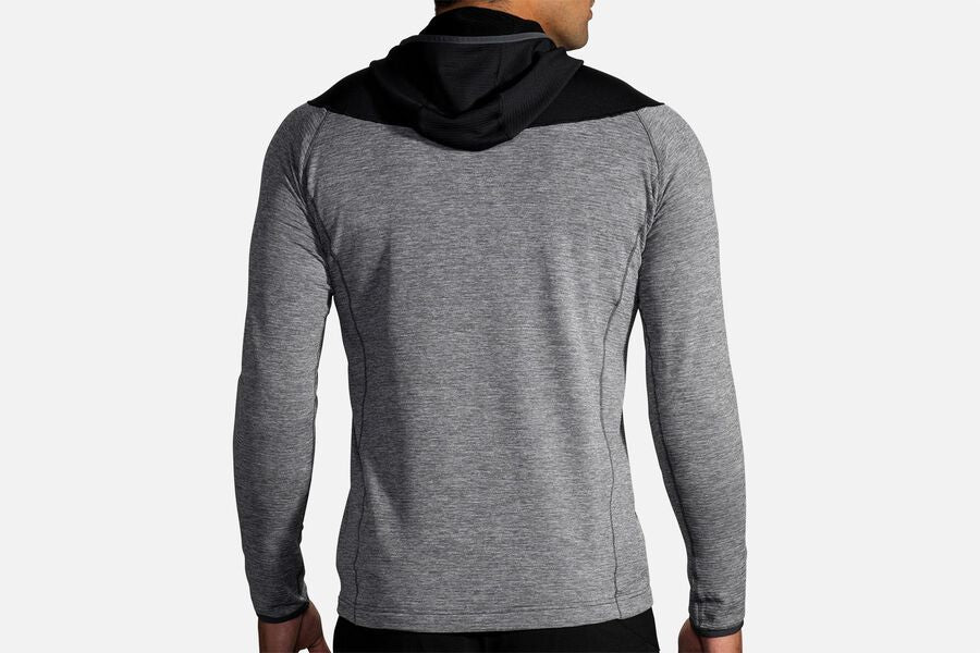 Men's Notch Thermal Hoodie (079 -  Heather Asphalt/Black)