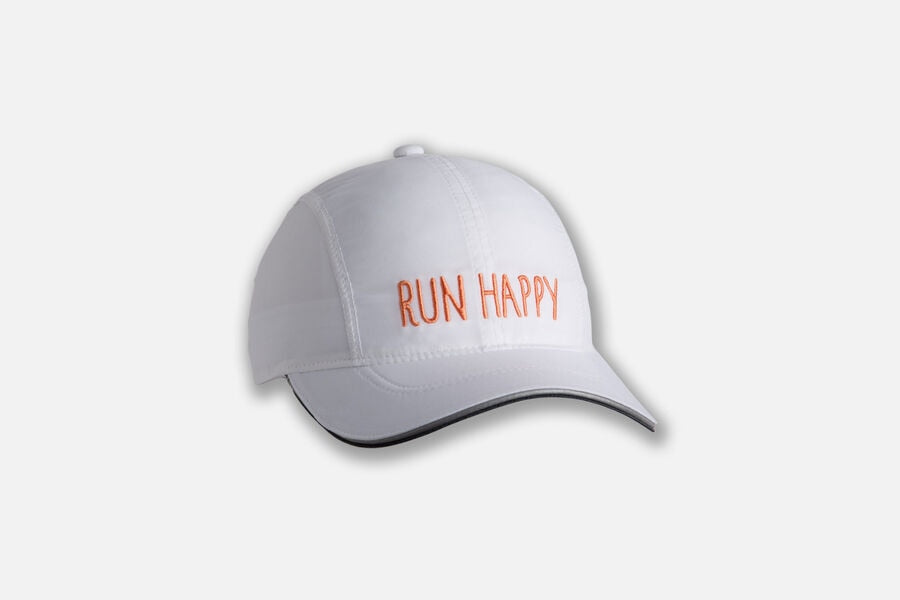 Run Happy Chaser Hat (187 - White/Nectar)