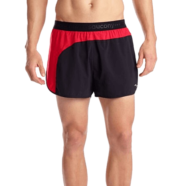 "Men's Split Second 2.5"" Short (BKRED - black/red)"