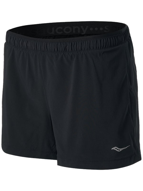 "Women's Saucony Outpace 3.5"" Short (BK - black)"