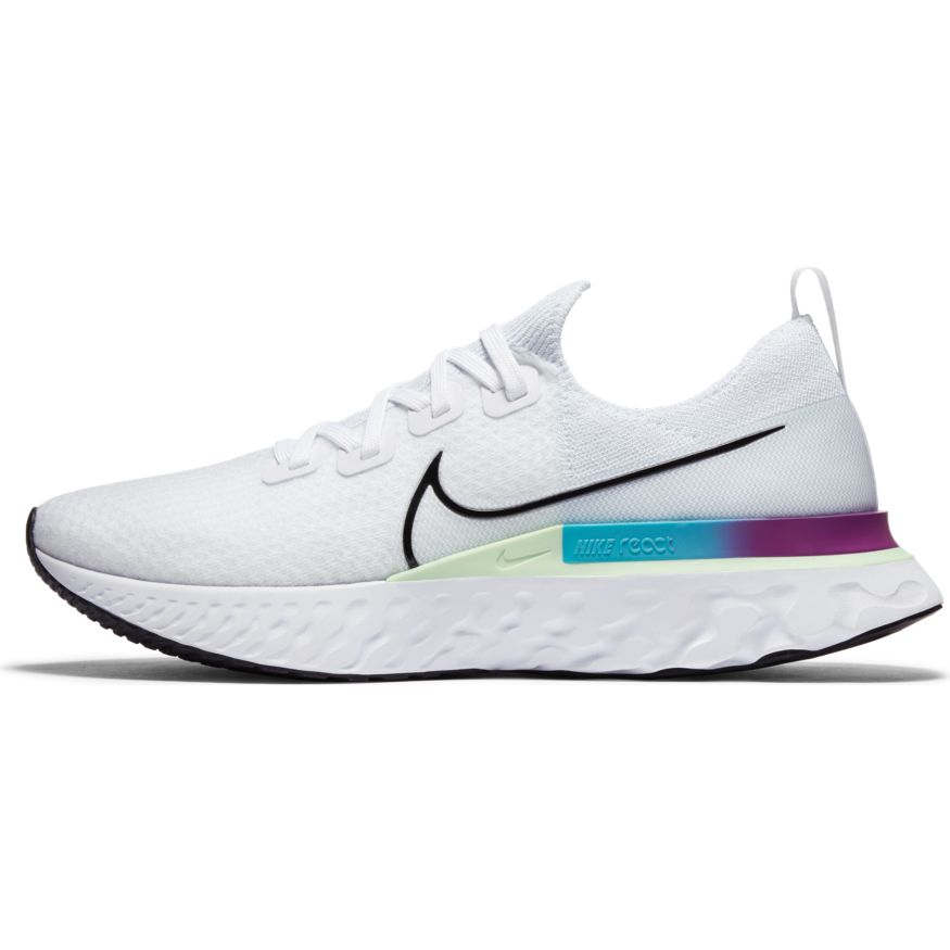 Men's React Infinity Run Flyknit (102 - white/vapor green/oracle aqua/black)