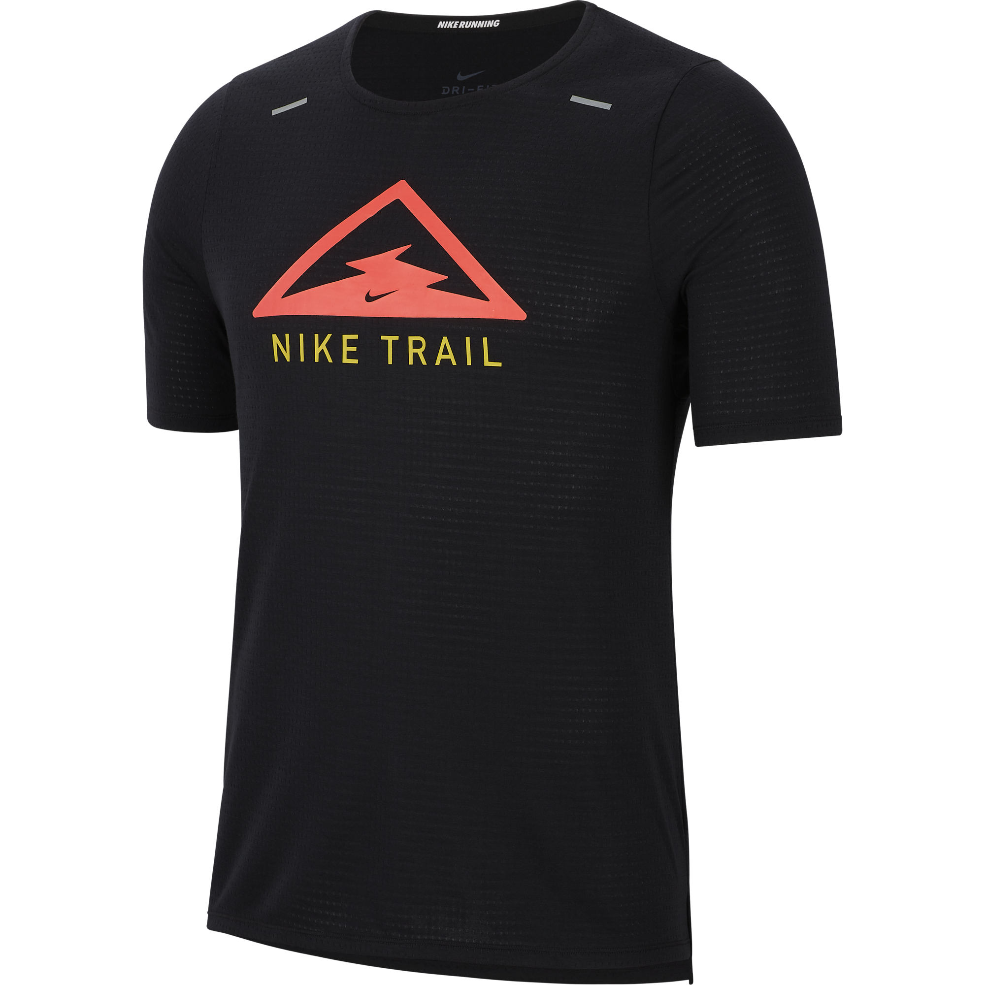 Men's Rise 365 Trail Running Top (010 - Black/Laser Crimson)