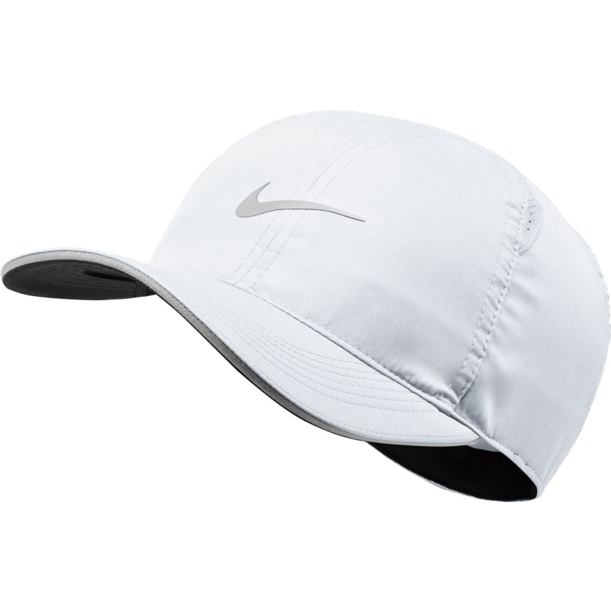 Unisex Featherlight Running Cap (100 - white/reflective silver)